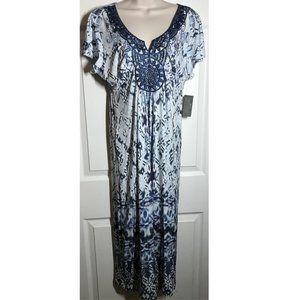 Style & Co Embellished Splashing Falls Dress ~ PXL